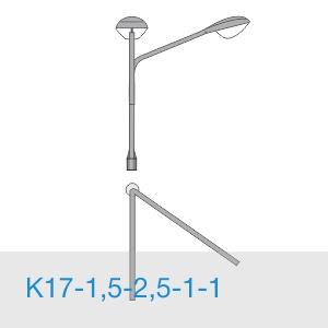К17-1,5-2,5-1-1 консольный двухрожковый кронштейн