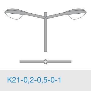 К21-0,2-0,5-0-1 консольный двухрожковый кронштейн