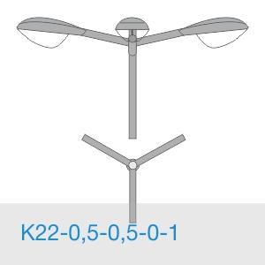 К22-0,5-0,5-0-1 консольный трехрожковый кронштейн