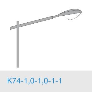 К74-1,0-1,0-1-1 консольный однорожковый кронштейн