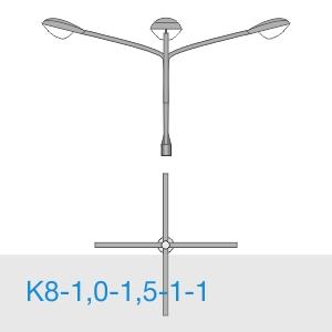К8-1,0-1,5-1-1 консольный четырехрожковый кронштейн