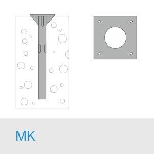 Фундамент МК 1000(900)+М30×1500/20