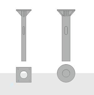 Закладной фундамент ЗФ-20/4/К180-1,0-б