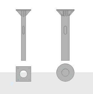 Закладной фундамент ЗФ-30/4/230-0,45-ц